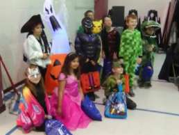 Kids dressed up for trick or treat at White Pine Academy