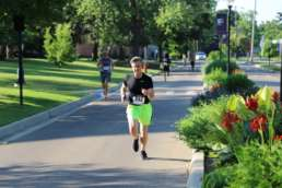 Christopher Burdette running in the Run Albion event