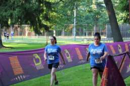 Two women walking in the first Run Albion Event
