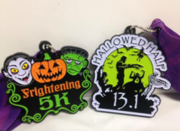 Hallowed Half and Frightening 5K community event in Leslie, Michigan