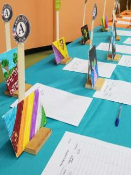 Kids N Canvas community event in Albion, Michigan