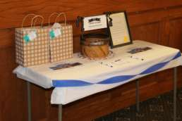 Raffle table from the Homestead 130 year celebration.