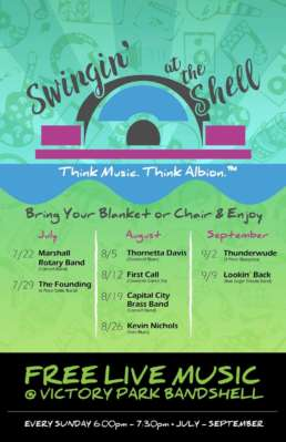 Swingin at the Shell Think Music. Think Albion Flyer