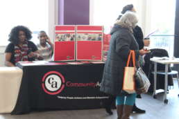 Homestead Savings Bank at the Own It Albion community Event