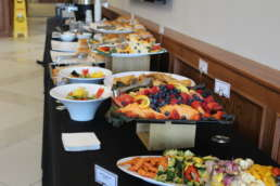 Assortment of food at the Own It Albion community event