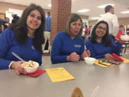 Homestead Savings Bank team at Make a Difference event in Leslie, Michigan