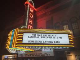 Bohm Theater showing The War and Treaty on Saturday November 10 7PM sponsored by Homestead Savings Bank